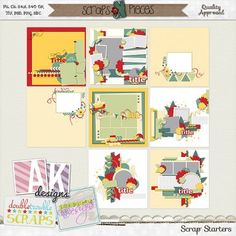 March Mini Collab - Scrap Starters Templates [Store_MarMiniCollabSST] - $5.99 : Scraps N Pieces Store