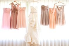 I think I've decided I want light colors.  No vibrant for me... maybe????? bridesmaid dresses
