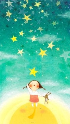 Kind of love the stars/sky for a painted wall extending to ceiling for a nursery or kids room...