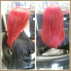Removed black and applied red! Done by myself Rebecca Gonzalez @ Simply Chic Beauty Salon in Lowell, Ma