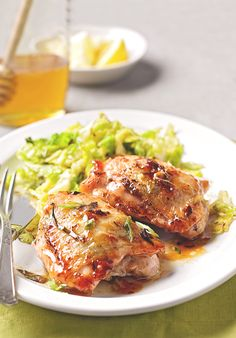Learn how to easily balance the sweet and sour in this lemon ginger chicken recipe. The secret to infusing the chicken with flavor? Rubbing the seasoning mix under the skin of the chicken.