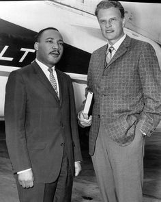 Martin Luther King and Rev. Billy Graham. Two friends who were real classic men and helped change the world....