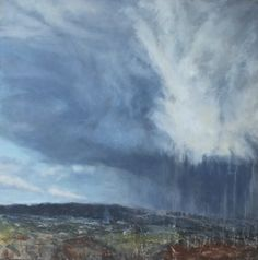 Mercurial Moor by Devon artist Julie Dunster in oil and mixed media x Devon, Landscape Paintings, Mixed Media, Oil, In This Moment, Mountains, Artist, Artists, Landscape