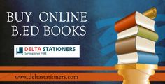 Best & cheap #B_ED #books online in Noida. #Onlinebooks #DeltaStationers Contact us : Mobile no.: +91-9818189817 Email id- delta.jain@gmail.com http://bit.ly/2aYJlI5