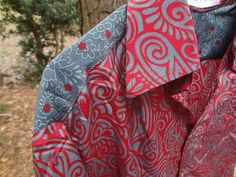 Men's Handmade Polyester Button Down Dress by MumtazCreations2