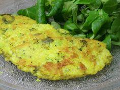 Galettes de millet au brocoli et au curcuma sans gluten et sans lactose