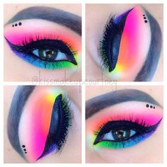 This is my friend Courtney who does amazing makeup! Make sure you follow her!  Neon eye makeup