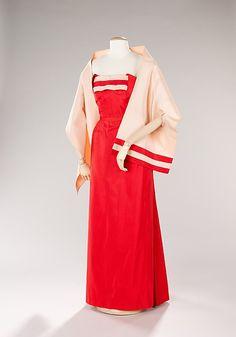 Fontana (Italian, founded 1943). Evening ensemble, 1956. The Metropolitan Museum of Art, New York. Brooklyn Museum Costume Collection at The Metropolitan Museum of Art, Gift of the Brooklyn Museum, 2009; Gift of Mrs. Morehead Patterson, 1972 (2009.300.501a–c)