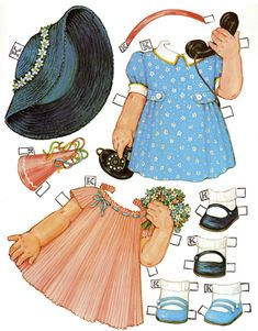 Outfits for Kate - Queen Holden paper dolls
