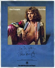 """Peter Frampton """"I'm In You"""" (1977) LP ad Frampton Comes Alive, A&m Records, Peter Frampton, Billboard Magazine, Nostalgia, The Old Days, Music Mix, I Survived, Music Bands"""