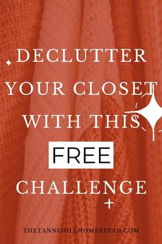 If your closet is stuffed to the max, it is time to declutter! No worries, because this FREE email challenge is going to help you declutter like a champ! Check it out now! #closetdeclutter #freedeclutterchallenge #wardrobe #capsulewardrobe #tidyhome Closet Storage, Closet Organization, Decluttering Ideas, Clutter Free Home, Free Email, Declutter Your Home, Challenges, Check, Base Cabinet Storage