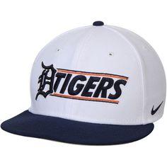 454439332b4 Detroit Tigers Nike Snapback Adjustable Hat - White Navy