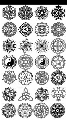 Check which tattoo suits you best. Mandala Doodle, Mandala Drawing, Mandala Tattoo, Mandala Art, Tatoo Art, Tattoo Drawings, Tattoos, Stencil Patterns, Stencil Designs