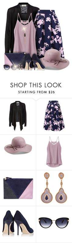 """""""Style It in Dark Floral Print!"""" by laurenjane47 ❤ liked on Polyvore featuring Rosemunde, WithChic, Collection XIIX, RVCA, Clare V., Fernando Jorge, Jimmy Choo, Oscar de la Renta and New Directions"""