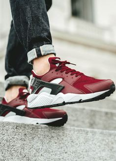 NIKE Air Huarache 'Team Red x Pure Platinum'  Best Fashion Shoes For Women: http://www.theproductguide.net/top-50-best-selling-women-fashion-shoes/