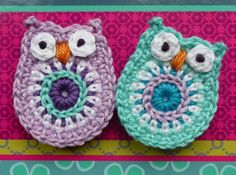 *  Inspiration only.  Crochet Owl Magnets - no longer available on etsy