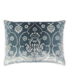 Polonaise Celadon Throw Pillow design by Designers Guild