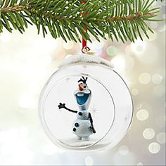 Disney Olaf Glass Globe Sketchbook Ornament | Disney StoreOlaf Glass Globe Sketchbook Ornament - Dream of frosted fantasy worlds while gazing at this glittering glass globe ornament. A sculptured Olaf figurine is placed within a clear glass ball to peer from the picture window into your holiday tree.