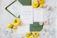 Green and Navy Wedding Invitations Classic Preppy