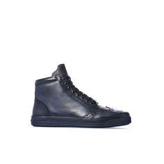 Baldinini Man Collection: Ankle boots in navy blue calfskin #Baldinini #Menshoes