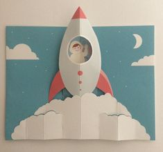Pop Up Rocket Birthday Card PopUp Greetings Card! by ColinRoyToddPopUp on Etsy Birthday Card Pop Up, Handmade Birthday Cards, Birthday Greeting Cards, Special Birthday, Origami Birthday Card, Birthday Message, Christmas Birthday, Best Birthday Wishes Messages, Cuento Pop Up