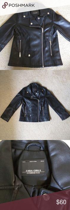 ZARA girls faux leather jacket size 8 NWOT, Brand new, name brand! Super nice quality. Cute jacket! Zara Jackets & Coats
