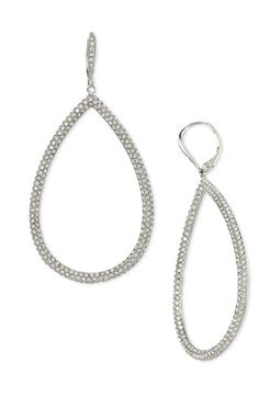 Free shipping and returns on Nadri Pavé Open Teardrop Earrings at Nordstrom.com. Sparkling crystals cover open teardrops on a sophisticated pair of drop earrings.