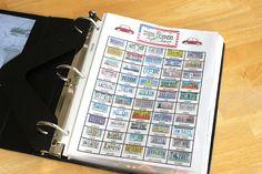 "Gluesticks: Road Trip Binder for Kids. Includes free printables like ""Roadtrip Bingo"". We did this but not this fun."