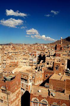 The beautiful Old City of Sana'a (#Yemen). http://www.nobelcom.com/phone-cards/calling-Yemen-from-United-States-1-300.html?