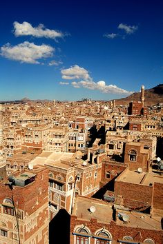 The beautiful Old City of Sana'a, Yemen