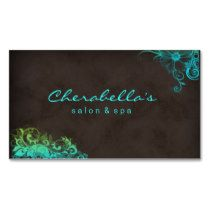 Blue Green Trendy Salon Spa Appointment Card Business Card Template
