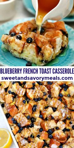 What's For Breakfast, Best Breakfast Recipes, Breakfast Dishes, Brunch Recipes, Easy Dinner Recipes, Easy Meals, Blueberry French Toast Casserole, Cooking Recipes, Vegan Recipes Easy