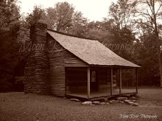 Carter Shields Cabin of Cades Cove Tennessee  8x10 by moonriver74, $20.00