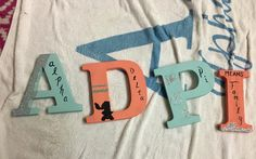 Sorority Alpha delta pi means family letters for your little or for anything!  Made by Raelynn Parris