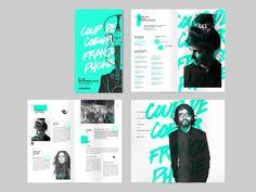 Brochure design Web and Branding Works by Akufen Magazine Layout Inspiration, Layout Design Inspiration, Page Layout Design, Web Design, Magazine Layout Design, Graphic Design Layouts, Book Layout, Magazine Layouts, Creative Design