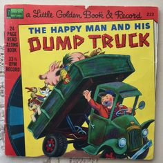 1976 Disneyland Little Golden Book and Record The Happy Man and His Dump Truck Vintage Children's Books, Vintage Postcards, I Ship It, Little Golden Books, Dump Truck, Little Puppies, Scottie Dog, Etsy Shipping, Vintage Labels