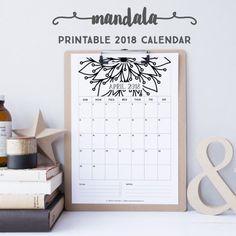 2018 Calendar: Mandala