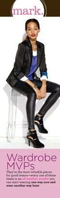 Coming to mark. this Fall - Blaze a New Trail Blazer, Chic It Out Pants, & Multi Mixed-Media Boots! #fallfashion