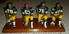 The Steel Curtain Figurine, Pittsburgh Steelers, Danbury Mint 2001 No box No coa #TheDanburyMint #PittsburghSteelers