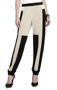 Stay on trend in this color-blocked pant.