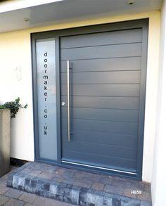 grey contemporary door sandblast sidelight