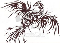 Tribal Phoenix by ~CozmicDreamer on deviantART