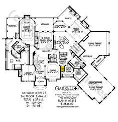 Winslow House Plan 07212 – Garrell Associates, Inc. Winslow House Plan 07212 – Garrell Associates, Inc. Luxury Homes Dream Houses, Luxury House Plans, Dream House Plans, House Floor Plans, Dream Homes, Two Story House Plans, House Layout Plans, House Layouts, Winslow House