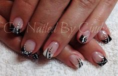 Black and white french | NAILPRO