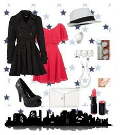 """""""A Night Out"""" by jesssp17 ❤ liked on Polyvore featuring Universal Lighting and Decor, 18 and East, Steve Madden, Pinup Couture, Liz Claiborne, MICHELA, Sophie Bille Brahe, Lagos and BCBGMAXAZRIA"""