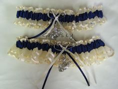 marine wedding emblem | Marine Corp wedding garters, navy ivory wedding garter