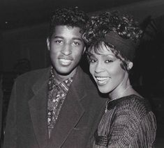 R&B Lovers Babyface & Whitney Houston Beverly Hills, Whitney Houston Pictures, Whitney Houston Live, Cissy Houston, Beautiful Black Women, Beautiful People, American Singers, Black History, Music Artists