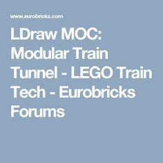 LDraw MOC: Modular Train Tunnel - LEGO Train Tech - Eurobricks Forums