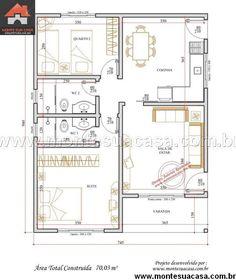 Casa 1 Quartos - 70.03m²
