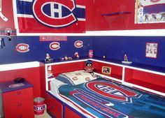 Nathan's Montreal Canadians bed